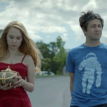 Juno Temple and Michael Angarano brokenhearted in The Brass Teapot